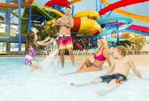Fallsview Indoor Waterpark features 3 acres of family fun in Niagara Falls.